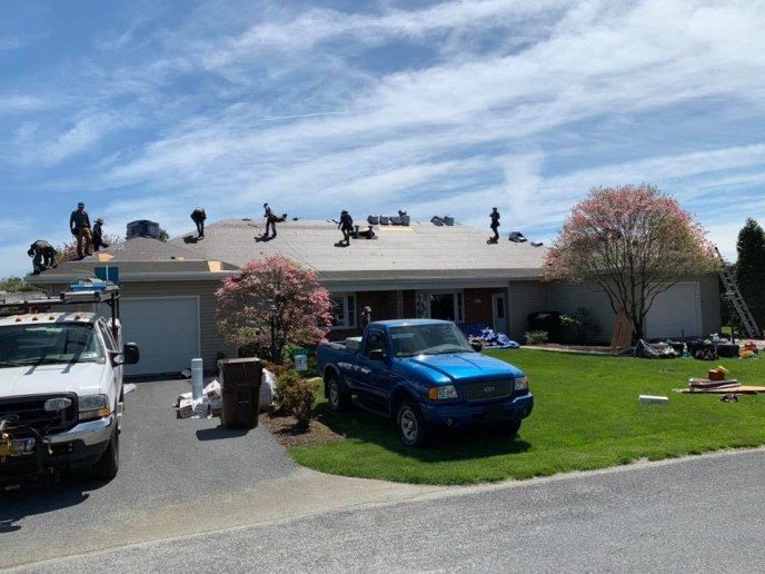 Westminster MD Roofing Contractor Superior Services executing a roof damage insurance claim