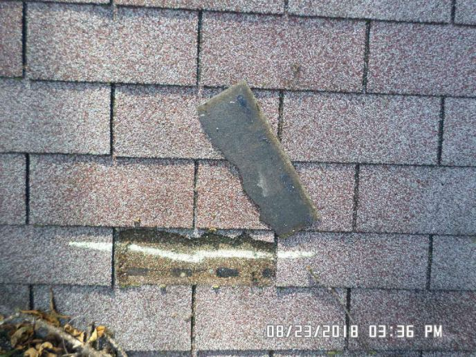 Roof in Westminster MD 21158 with hail and wind damage documented for an insurance claim to get a new roof replacement