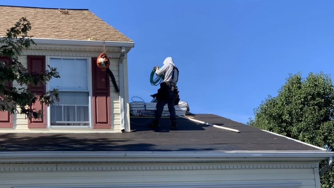 Roof repair by Superior Services of PA & MD roofing contractor in Manchester Maryland 21088