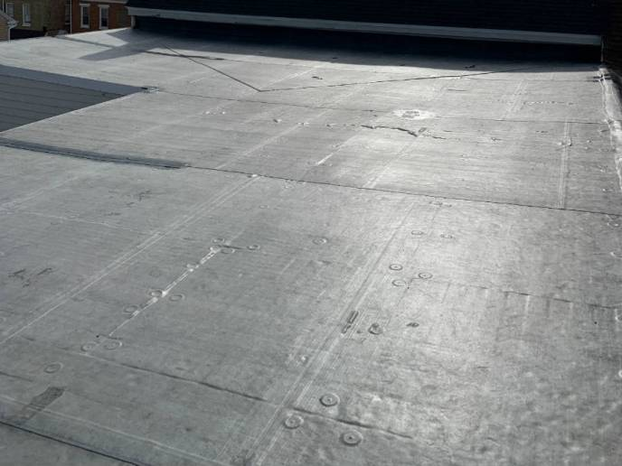 Commercial flat EPDM rubber roofing in hanover pa 17331 by superior services