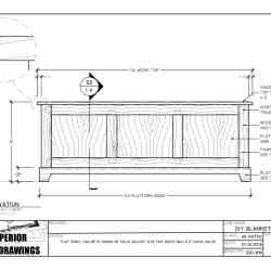 DIY Blanket Chest Woodworking Plans