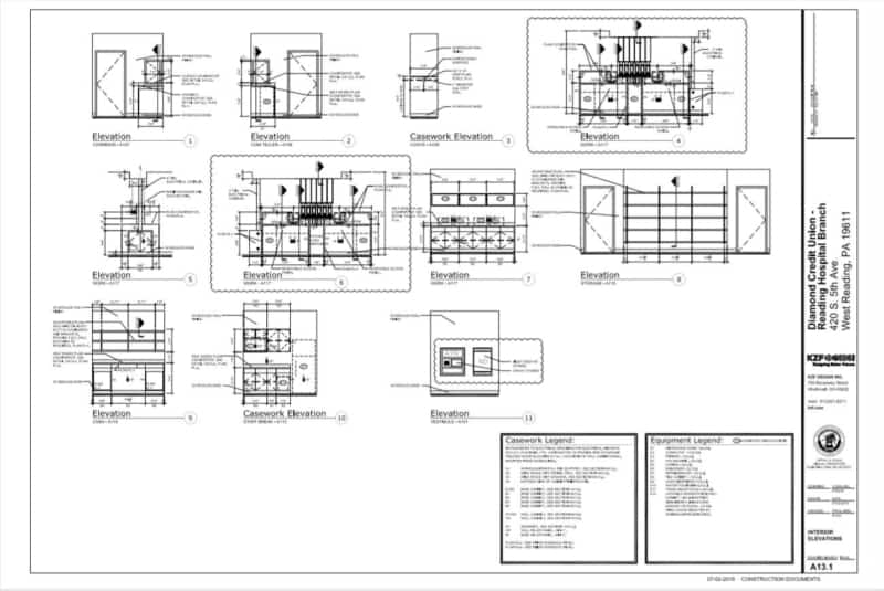 Read Architectural Drawings - Elevation View