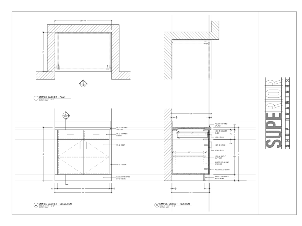 Superior Shop Drawings - Millwork Drafting Fundamentals - Section