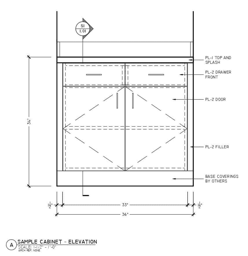Superior Shop Drawings - Millwork Drafting Standards - Dimensions