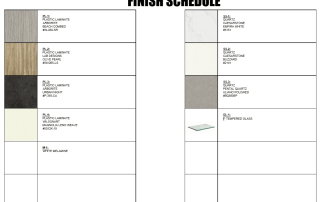 Superior Shop Drawings - Millwork Finish Schedule