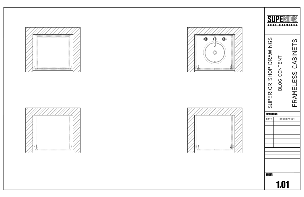 Frameless Cabinets - Plan View