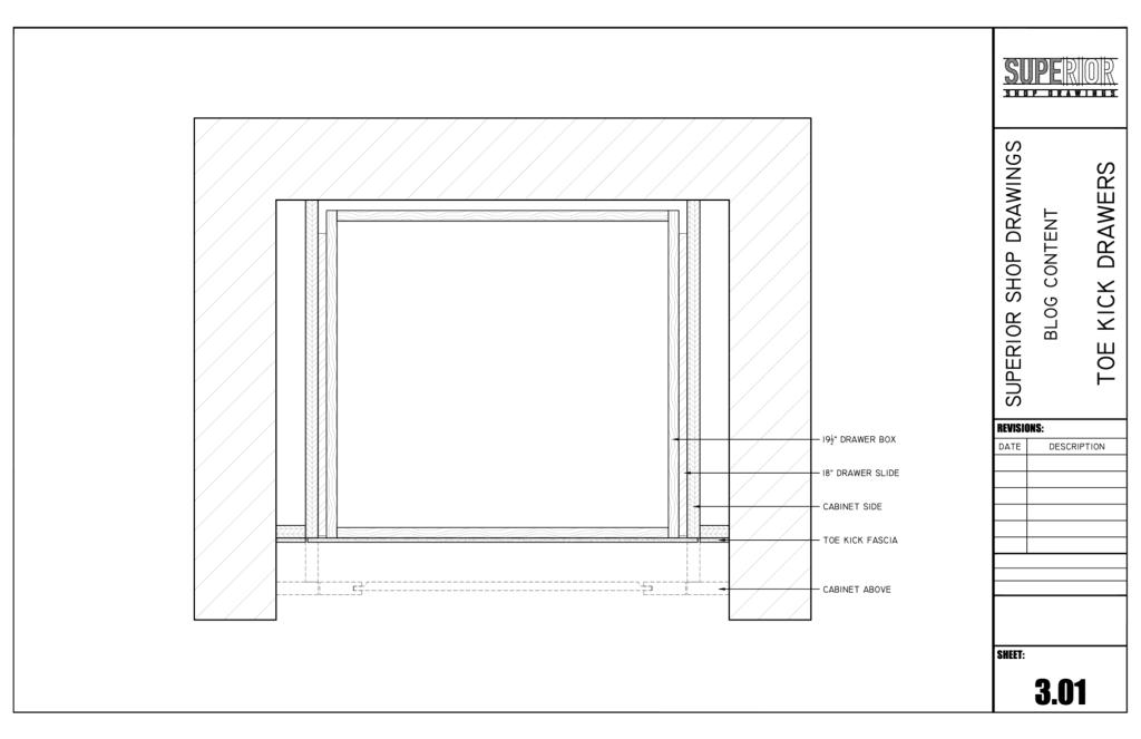 Toe Kick Drawers - Plan View