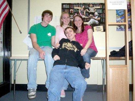 Chad, Adara, Mark, and I.