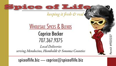 Spice of Life Business Card