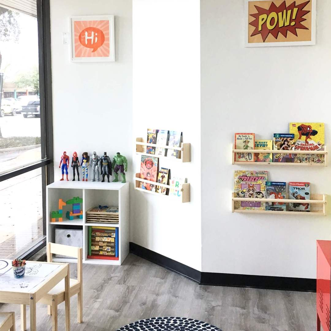 Play, dress up, read, or draw while you wait at Super Kids Austin.