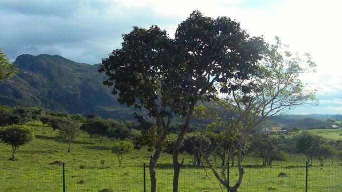 Blick auf die Landschaft in Nähe der Unterkunft