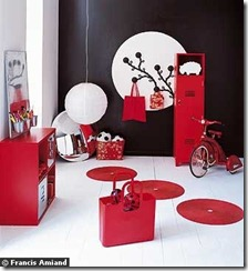 mobilier rouge