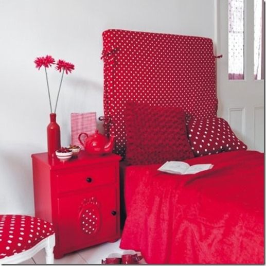 chambre fille rouge