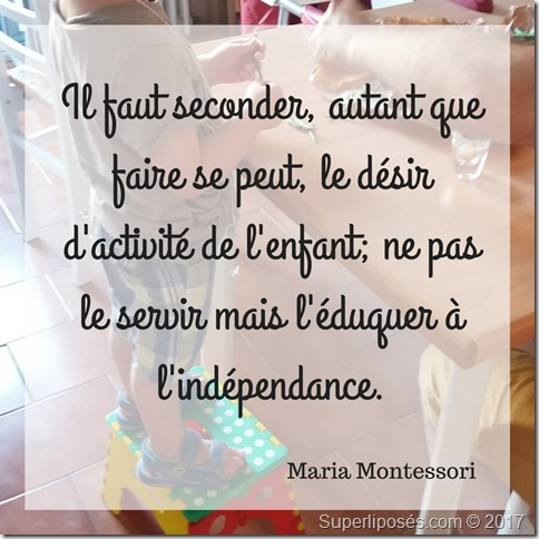 citation montessori indépendance enfant
