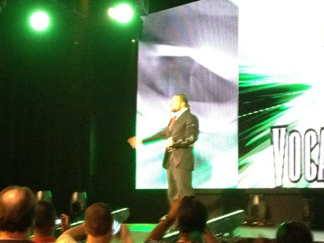 Triple H durante las grabaciones del WWE Superstar Showdown / Twitter.com/JoeVilla_WWE