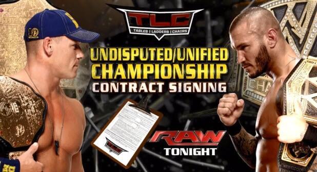 Raw ¿Campeón Indisputado? John Cena vs Randy Orton