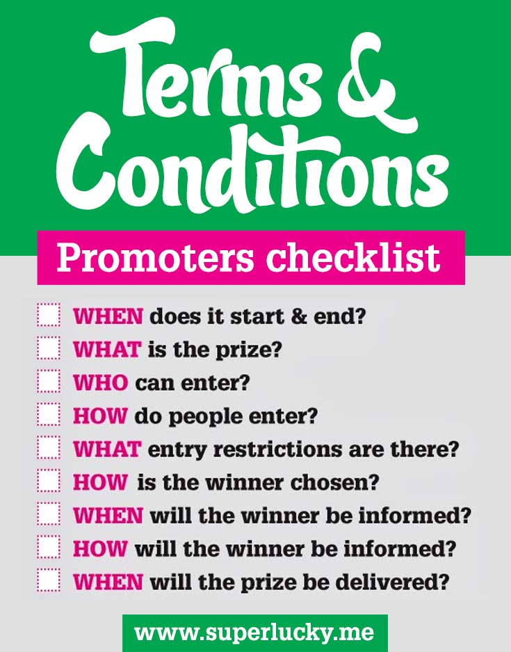 Essential terms & conditions if you're running a giveaway, competition or prize draw