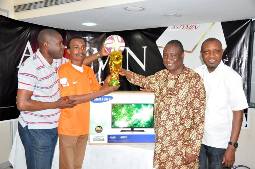 Opeyemi won a TV and World Cup replica in a prediction contest