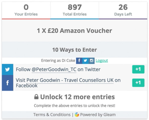 How to enter Gleam giveaways | SuperLucky