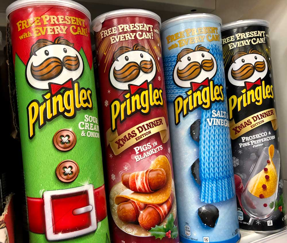 Pringles Free Present with every can