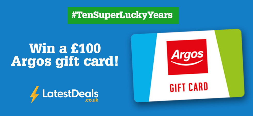 Win a £100 Argos gift card with SuperLucky & LatestDeals.co.uk!