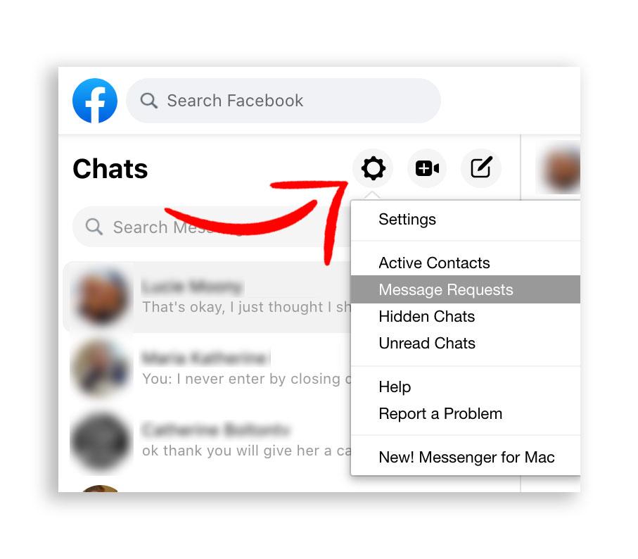 Facebook Message Requests
