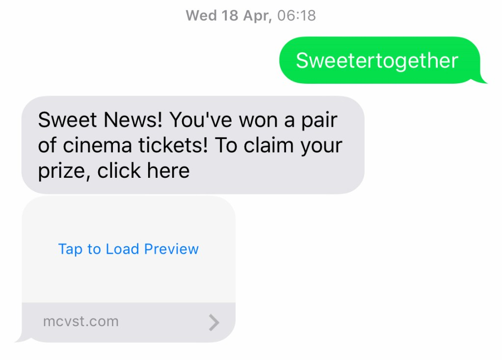 How to identify a scam text message