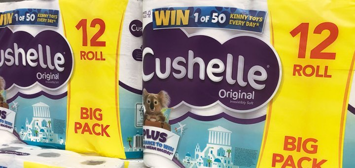 Win 50 prizes every day with Cushelle