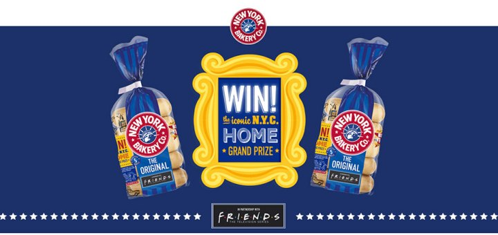 Win thousands of prizes in the New York Bakery Co. Friends instant win promotion