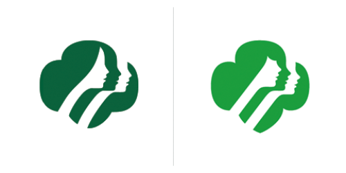 side by side comparison of logos courtesy of GirlScouts.org