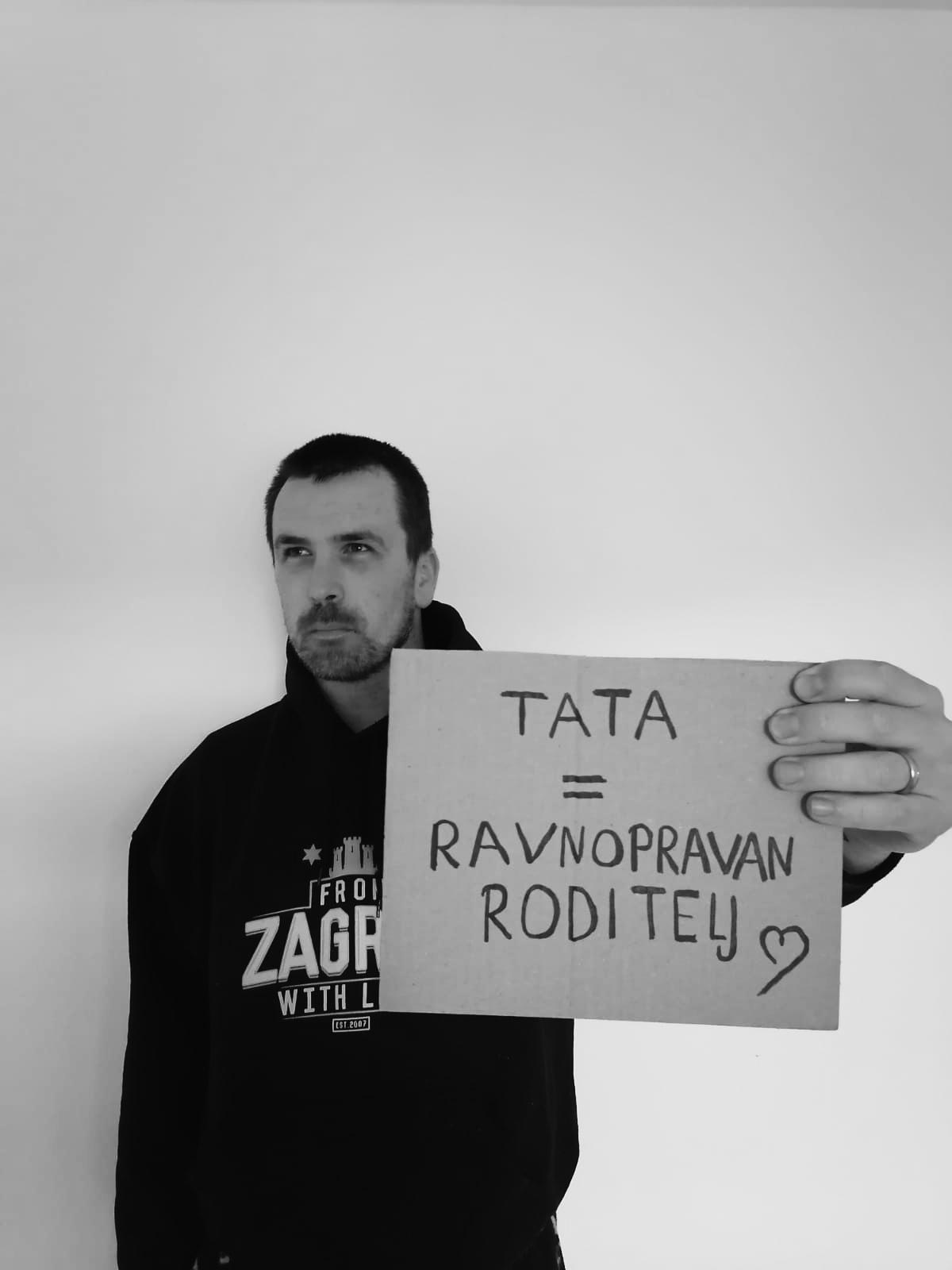 tata ravnopravan roditelj, Petar Knežević za kampanju za dan očeva