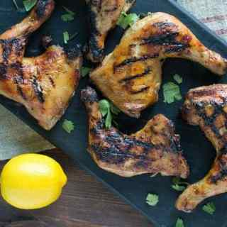 grilled chicken lemon and harissa mustard