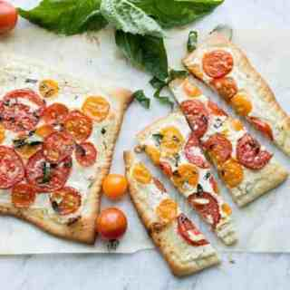 Heirloom Tomato Flatbread with Lemon Herb Ricotta