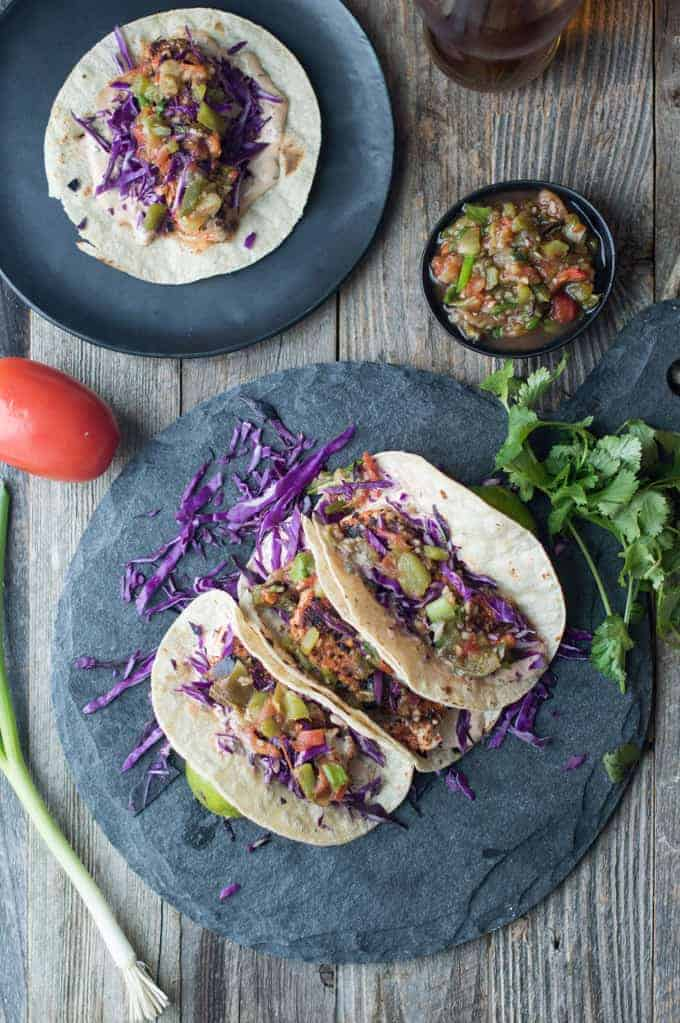 blackened fish tacos with salsa verde | superman cooks