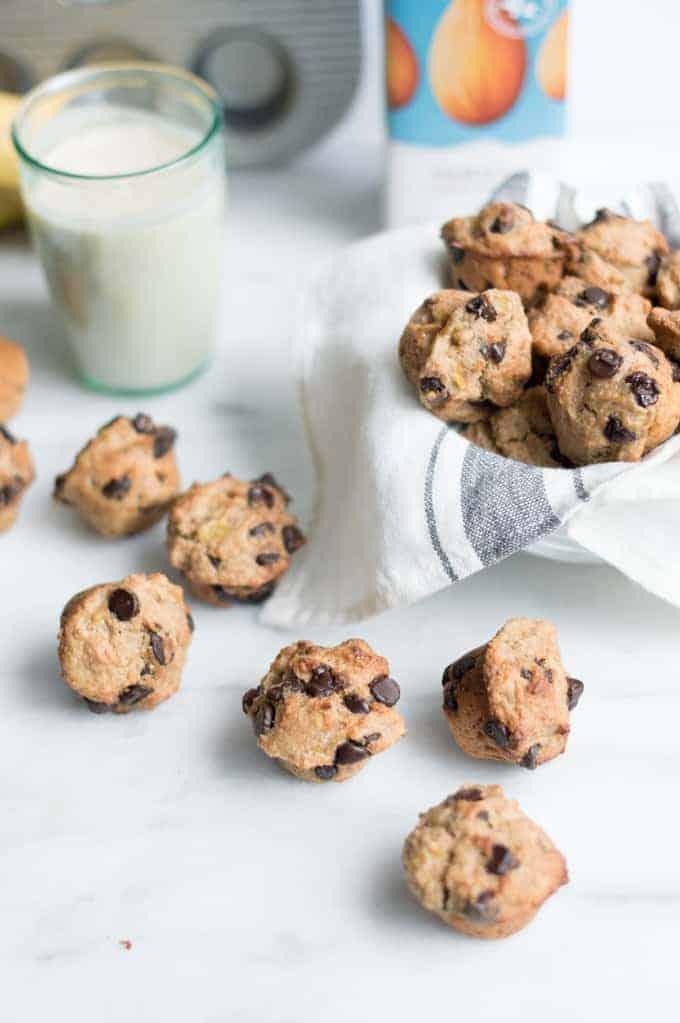 vegan banana chocolate chip muffins | superman cooks