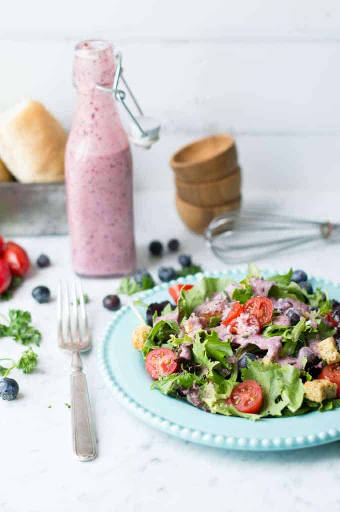 blueberry vinaigrette | superman cooks