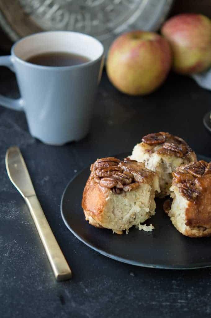 apple pecan sticky buns | superman cooks