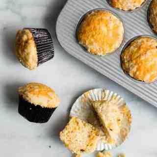 Chipotle Cheddar Cornbread Muffins