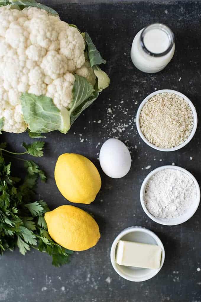 Italian Style Lemony-Roasted Cauliflower Bites   superman cooks