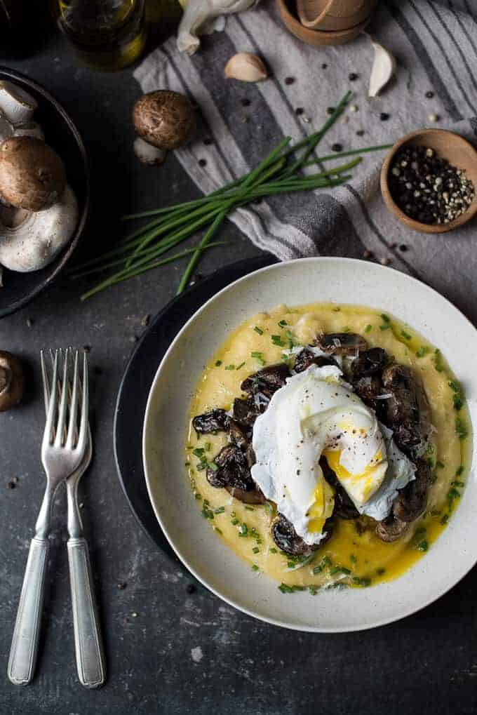 creamy polenta with mushroom ragout | superman cooks