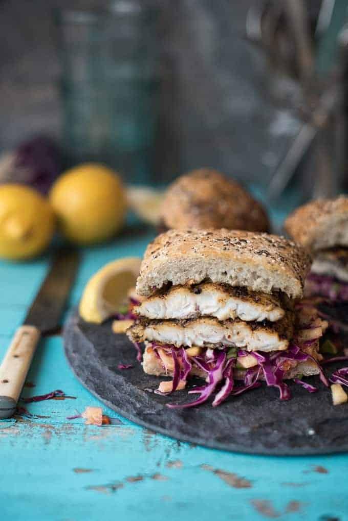 blackened catfish sandwich | superman cooks