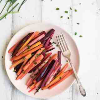 Tricolor Balsamic Carrots