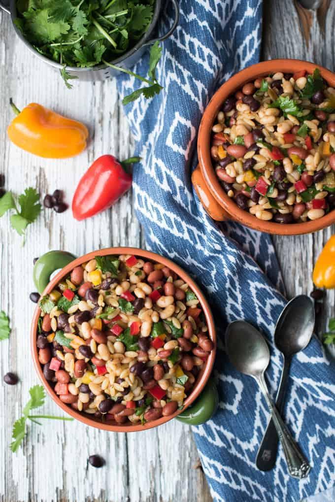 southwestern bean & orzo salad | superman cooks