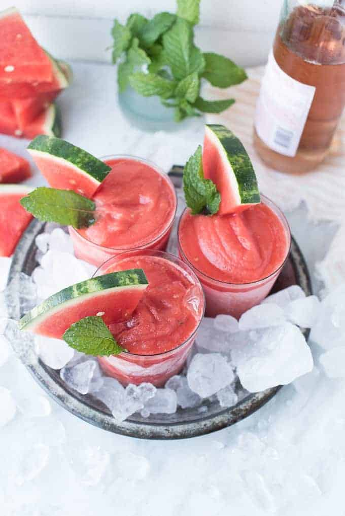 watermelon frosé cocktail | superman cooks