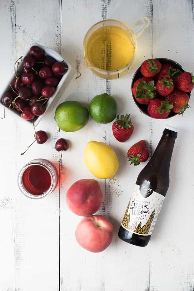 belgian beer sangria | superman cooks