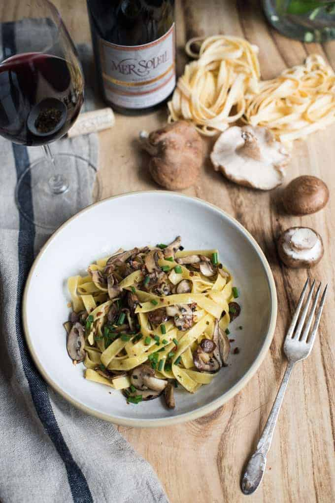 tagliatelle with mushroom & truffle ragù | superman cooks