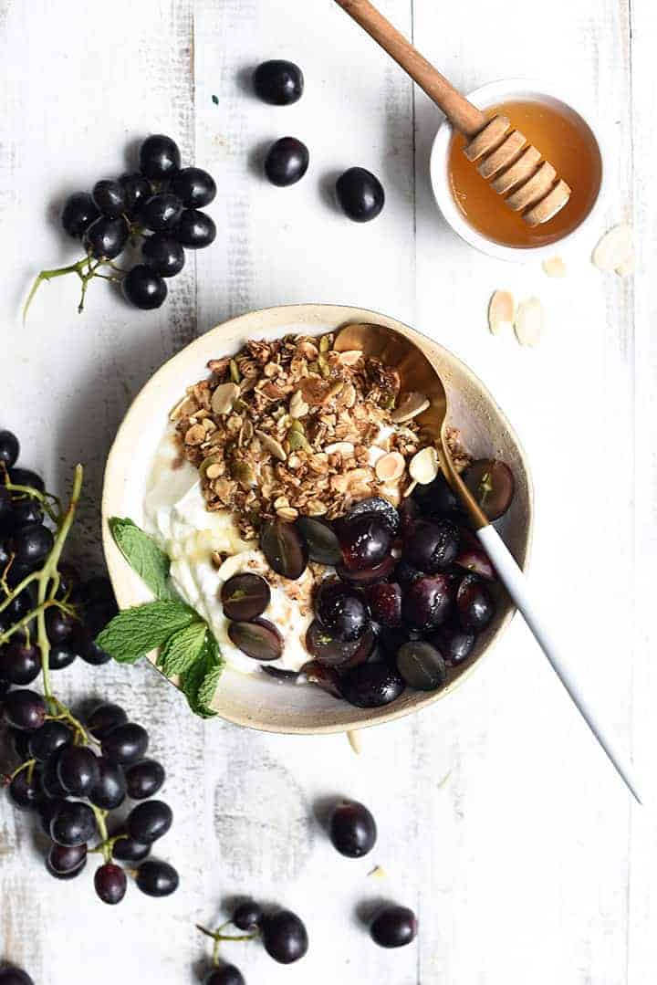 grape granola bowl
