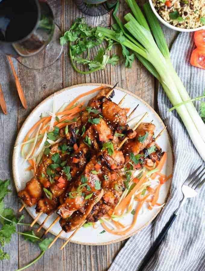 Asian BBQ chicken skewers | superman cook