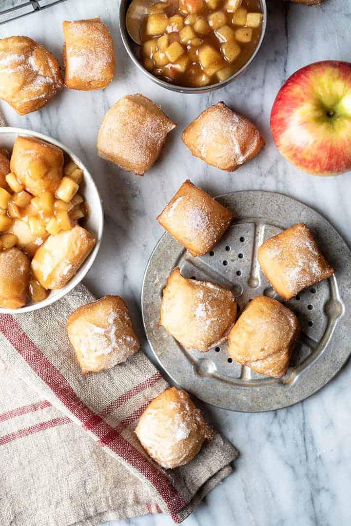 boozy apple beignets | superman cooks