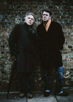March 2013, London UK. Rik Mayall and Craig Green from 'The Last Hurrah'